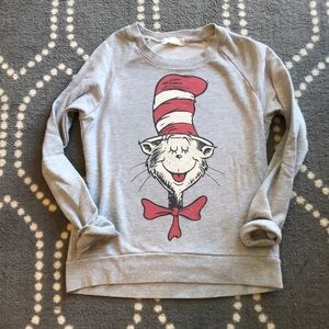 (Forever 21) Dr. Seuss Cat and the Hat Sweatshirt
